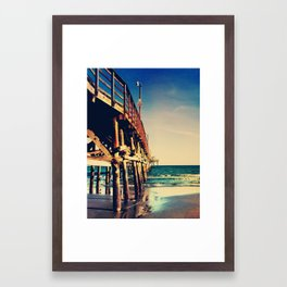 Cherry Grove SC Fishing Pier Framed Art Print