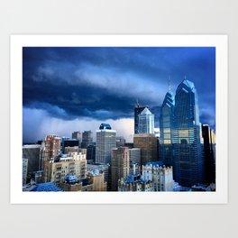 Philadelphia Skyline Before Rain Art Print