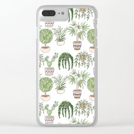 Watercolor . Plants . Clear iPhone Case