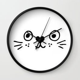 Cat Face, kids room and nursery deco Wall Clock