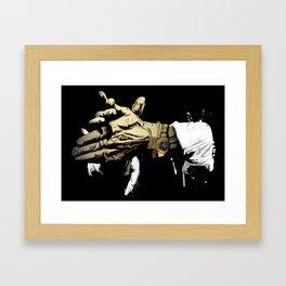 Las manos del Camarón Framed Art Print