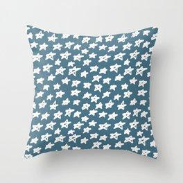 Stars Teal Throw Pillow