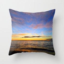 Glorious Sunset on the Sea Throw Pillow