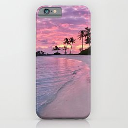 SUNSET AND PALM TREES iPhone Case