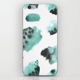 watercolor polka dots seamless pattern iPhone Skin
