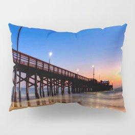 Lighted Beach Pier  Sunset 🌅 Pillow Sham
