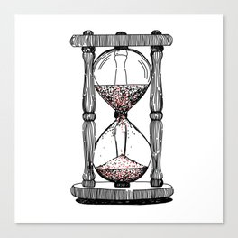 retro hourglass Canvas Print