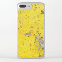 Yellow Weathered Wood rustic decor Clear iPhone Case