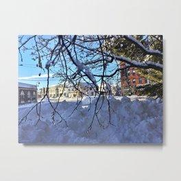 Winter Wonderland in Knightville, South Portland, Maine Metal Print
