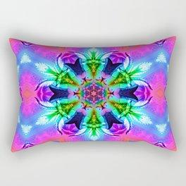 Cannabaphomet (Psychedelic Glitch Mandala Remix Version) Rectangular Pillow