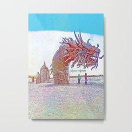 Anza - Borrego Desert Sea Dragon Metal Print