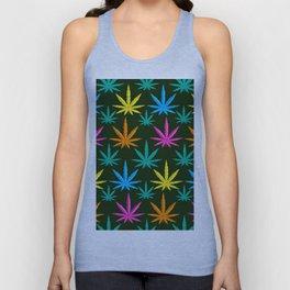 Colorful Marijuana weed Unisex Tank Top