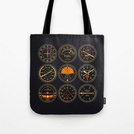 Aircraft Flight Instruments - Vintage Tote Bag