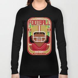 American Football Red and Gold - Hail-Mary Blitzsacker - Aretha version Long Sleeve T-shirt