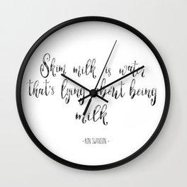Skim Milk | Ron Swanson Wall Clock