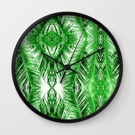 Tropical Palm Green Wall Clock