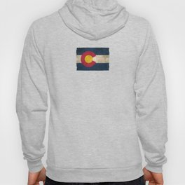 Old and Worn Distressed Vintage Flag of Colorado Hoody