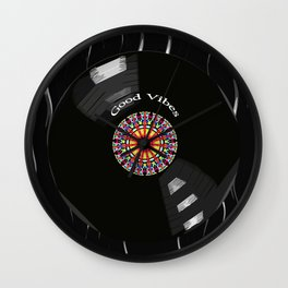 Good Vibes - For vinyl‬ ‎records ‪music lover‬ Wall Clock