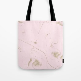 Luxe gold and blush marble image Tote Bag