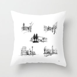 crouch end icons Throw Pillow