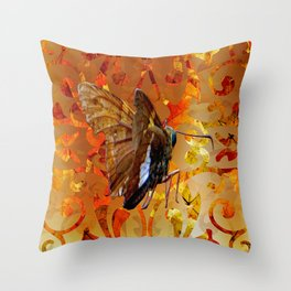 Silver Spotted Skipper Butterfly  Throw Pillow