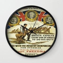 Vintage poster - British Recruiting Wall Clock