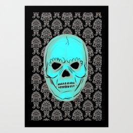 Skull mask Art Print