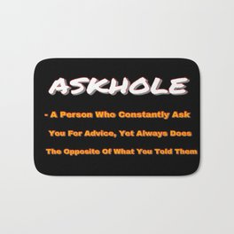 ASKHOLE ORANGE Bath Mat