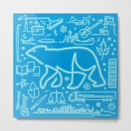 Canadiana Icons - Polar Bear Metal Print