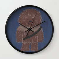 chewbacca Wall Clocks featuring Chewbacca by The Naptime Artist