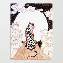 Tiger Moon Glow Poster
