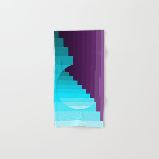 Ups and Down | Deep Within | Purple | Blue | Turquoise Hand & Bath Towel