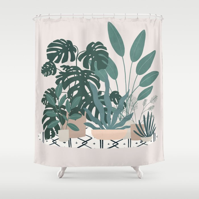 houseplant gang Shower Curtain