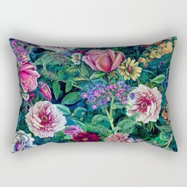 Botanical Flowers II Rectangular Pillow