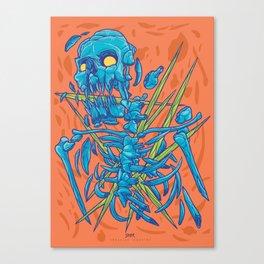 (Des)Integration Series - Blueskeleton Canvas Print