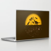 pocket fuel Laptop & iPad Skins featuring Fossil Fuel by Graham Dobson