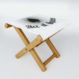 Ace of spades,light burst art, custom gift design Folding Stool