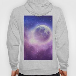 Starry sky background and full moon Hoody