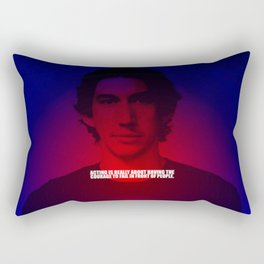 """Acting is really... """"Adam Driver"""" Celebrity with Quote Rectangular Pillow"""