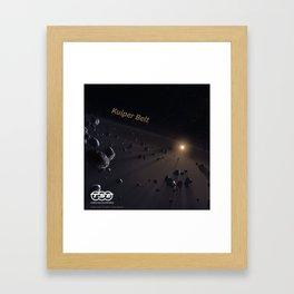 Kuiper Belt, Trans Solar Express Framed Art Print