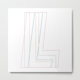 Intertwined Strength and Elegance of the Letter L Metal Print