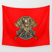 viking Wall Tapestries featuring Viking by Spooky Dooky