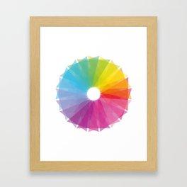 Geometric rainbow Framed Art Print