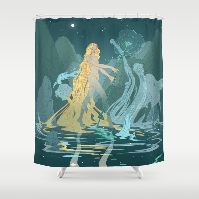 Nymph Of The River Shower Curtain