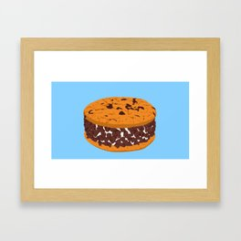 Chocolate Chip Cookie Ice Cream Sandwich Framed Art Print