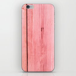 PINK STAINED WOOD TEXTURE iPhone Skin