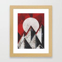 Mount kamikaze Framed Art Print
