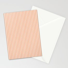 Classic Small Orange Soda French Mattress Ticking Double Stripes Stationery Cards