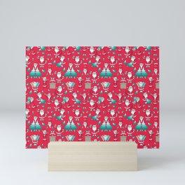 Busy Santas III Mini Art Print