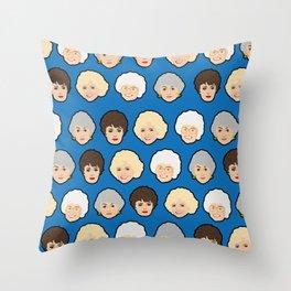 The Golden Girls Blue Pop Art Throw Pillow